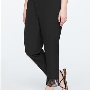 Cropped lace cuff black Katy pant 22